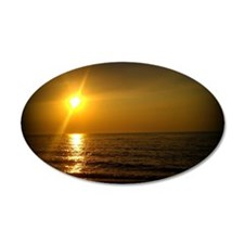 Golden Sunset Wall Decal