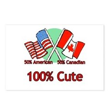 Canadian American 100% Cute Postcards (Package of