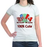 Canadian American 100% Cute T