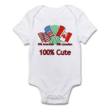 Canadian American 100% Cute Infant Bodysuit