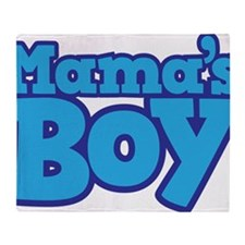 Mama's Boy T-shirt Design Throw Blanket