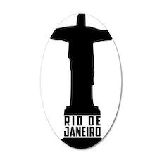 Christ Rio de Janeiro 35x21 Oval Wall Decal