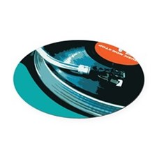 Turntable Vinyl DJ Oval Car Magnet