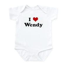 I Love Wendy Onesie