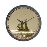 Classic Schooner Wall Clock