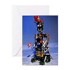 Lego humanoid robot known as Elektra Greeting Card