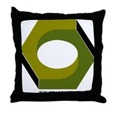 T6B Large Hex Nut Throw Pillow