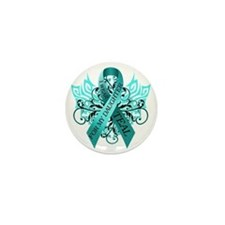 I Wear Teal for my Daughter Mini Button