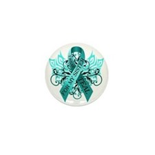 I Wear Teal for my Sister Mini Button