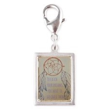 Chase your dreams Silver Portrait Charm