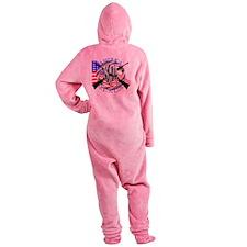 Molon Labe America 2nd Amendment Footed Pajamas