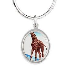 Vintage 1959 Belgian Congo Gi Silver Oval Necklace