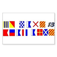Go Navy Beat Army In Flags Rectangle Decal