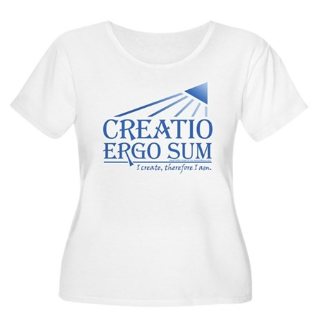 Creatio Ergo Sum Women's Plus Size Scoop Neck T-Sh