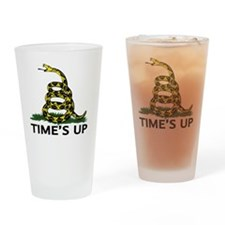 TIMES UP Drinking Glass