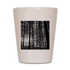 Black and White Forest Shot Glass