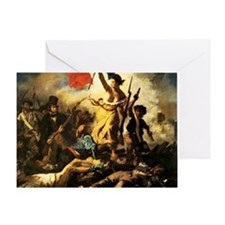 Eugene Delacroix Liberty Greeting Card