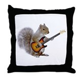 Squirrel Guitar Throw Pillow