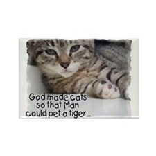 God made cats Rectangle Magnet