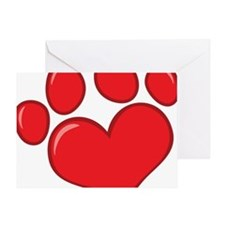 pet paw heart Greeting Card