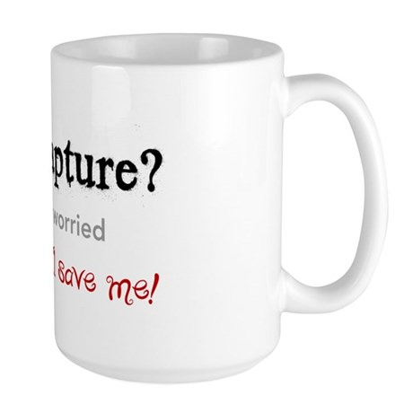 The Rapture vs. Santa Large Mug
