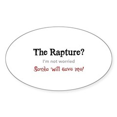 The Rapture vs. Santa Oval Sticker