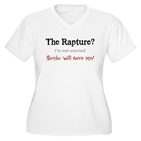 The Rapture vs. Santa Women's Plus Size V-Neck T-S