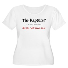 The Rapture vs. Santa Women's Plus Size Scoop Neck