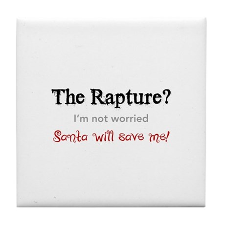 The Rapture vs. Santa Tile Coaster