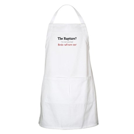 The Rapture vs. Santa BBQ Apron
