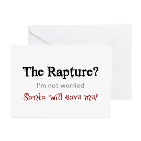 The Rapture vs. Santa Greeting Cards (Pk of 10