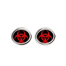 Bio-hazard on black Cufflinks