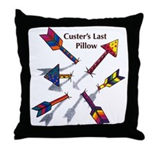 'Custer's Last Pillow' Throw Pillow