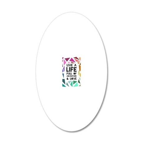 adventure&love 20x12 Oval Wall Decal