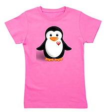 penguin with heart Girl's Tee