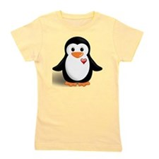 penguin with heart Girl's Tee