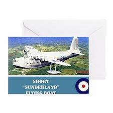 Short Sunderland Greeting Card