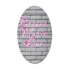 brenna 35x21 Oval Wall Decal