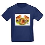 Red Leghorn Chicks Kids Dark T-Shirt