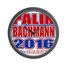 Bachmann Palin President 2016 Crazy Bac Wall Clock
