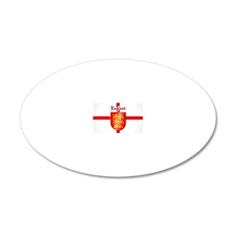England - Coat of Arms 20x12 Oval Wall Decal