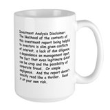 Investment Analysis Disclaimer Mug