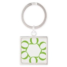LEAN/Six Sigma Square Keychain