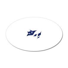 manta ray rochen scuba divin 20x12 Oval Wall Decal