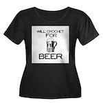 Will Crochet for Beer Women's Plus Size Scoop Neck