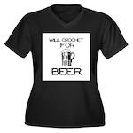 Will Crochet for Beer Women's Plus Size V-Neck Dar