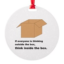 Think Inside the Box Ornament