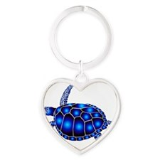 sea turtle ocean marine beach endan Heart Keychain