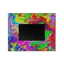 Bright Colorful Swirls. Picture Frame