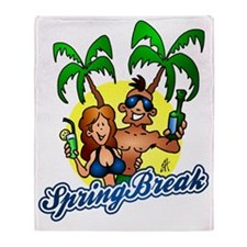 Spring break Throw Blanket